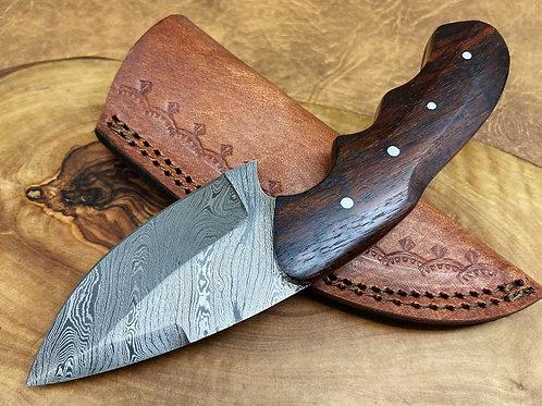 Damascus Steel Hunting Skinner Knife H5
