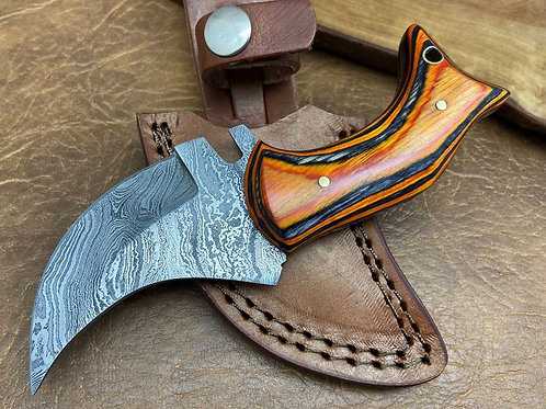 Damascus Hunting Custom Skinner Knife 174