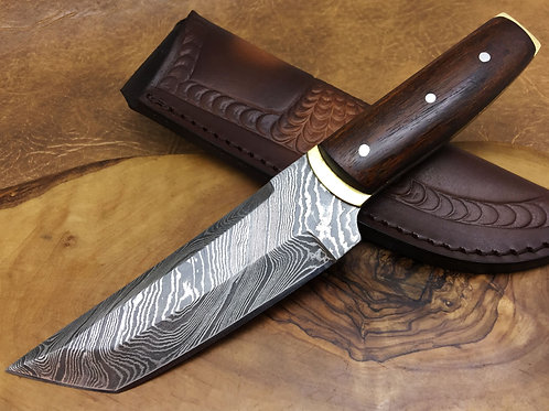 Damascus Steel Knife TANTOO-H10