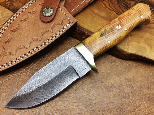 Damascus Hunting Knife 246W