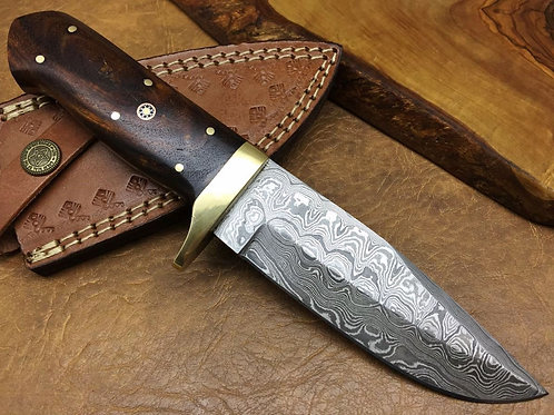 Damascus Hunting Knife 11
