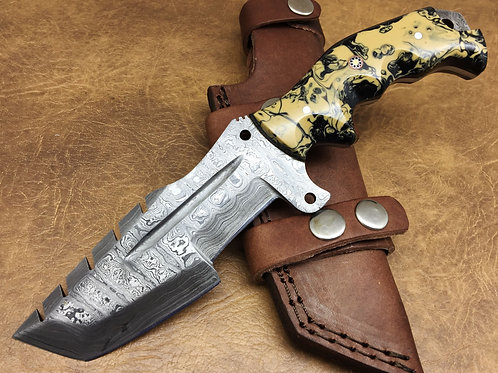 Damascus Tracker Knife-TR2