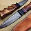 Thumbnail: Damascus Hunting Knife Rose Wood Raindrop- T016