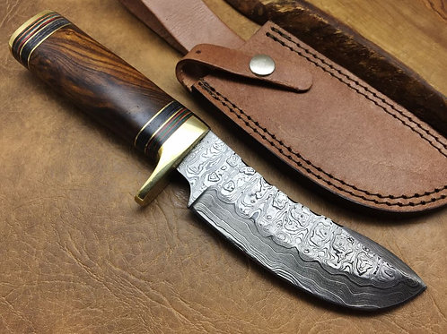 Damascus Steel Hunting Knife -569