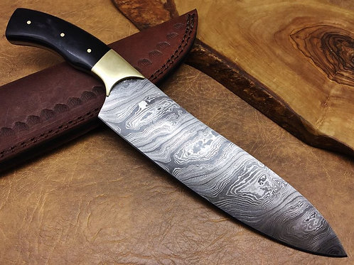 Damascus Kitchen Knife 326W