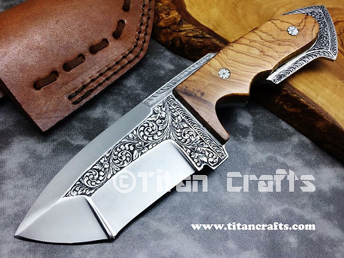 Exclusive Hand Engraved D2 Knife 2112W