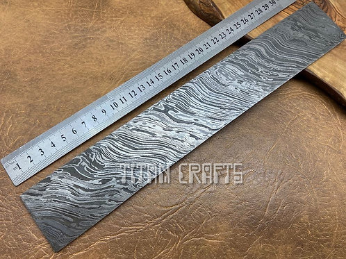 Premium Damascus Steel Billet Firestorm 33cm FR13