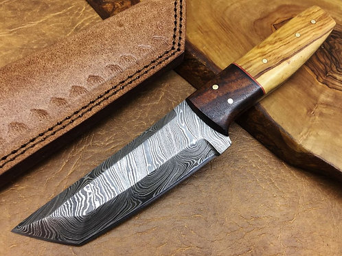 Damascus Steel Knife TANTOO-H9-O