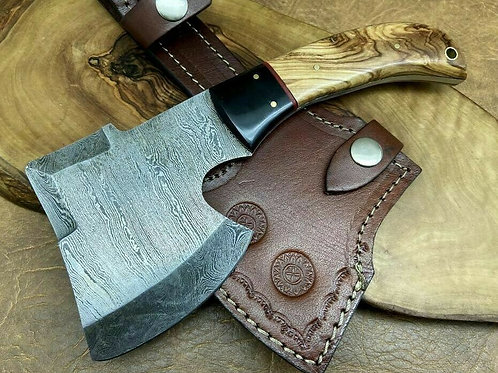 Damascus Steel Ax X4-O