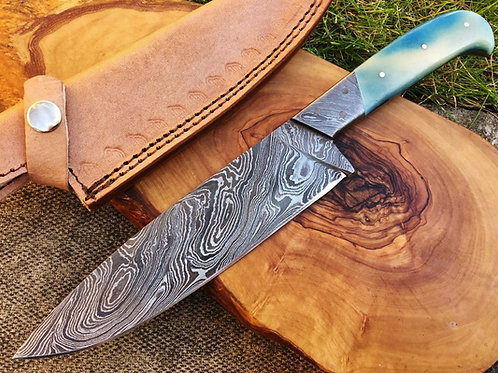 Damascus Kitchen Knife K3