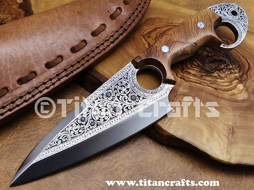 Exclusive Hand Engraved D2 Knife 2111W