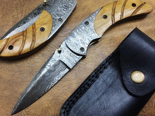 Titan's Damascus Folding Knife-1204