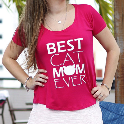 T-SHIRT BEST CAT MOM