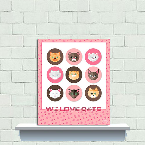 PLAQUINHA WE LOVE CATS