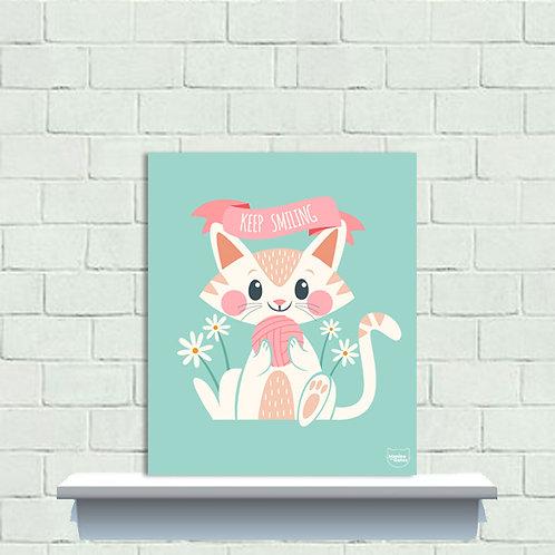PLAQUINHA - CUTE CAT