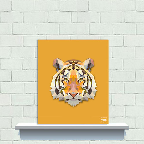PLAQUINHA - Tigre Poligonal