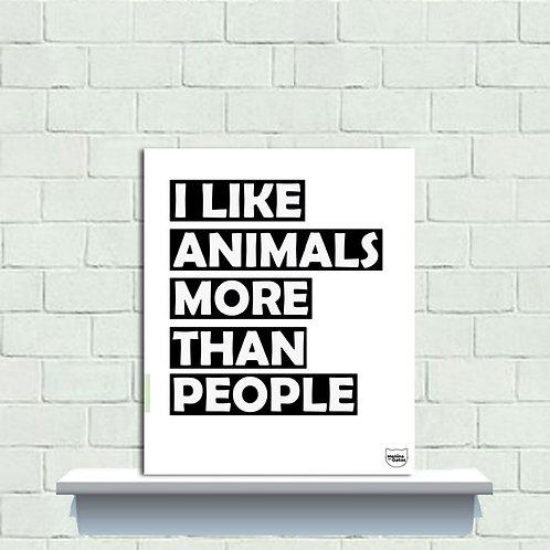 PLAQUINHA - I LIKE ANIMALS