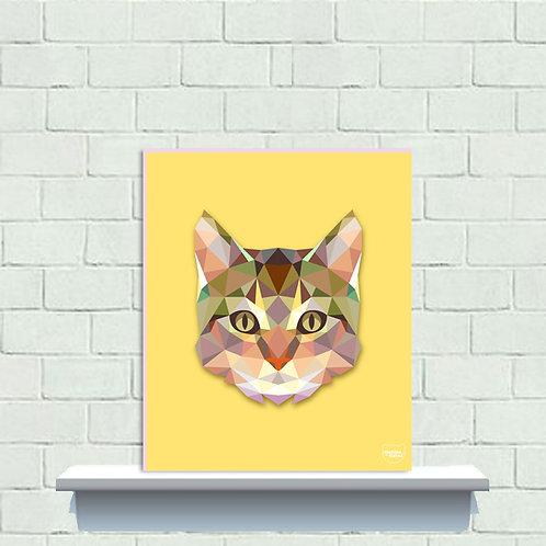 PLAQUINHA - Gato Poligonal 2