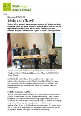 Südtiroler Bauernbund, 15.06.2021