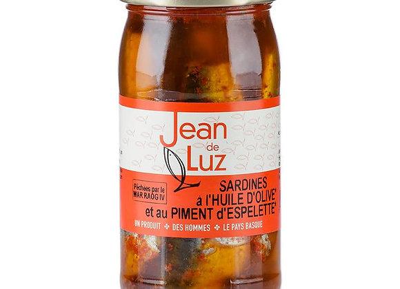 Sardines à l'huile d'olive et au piment d'Espelette AOP- BIO