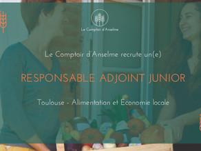 Le Comptoir d'Anselme recrute un responsable adjoint junior
