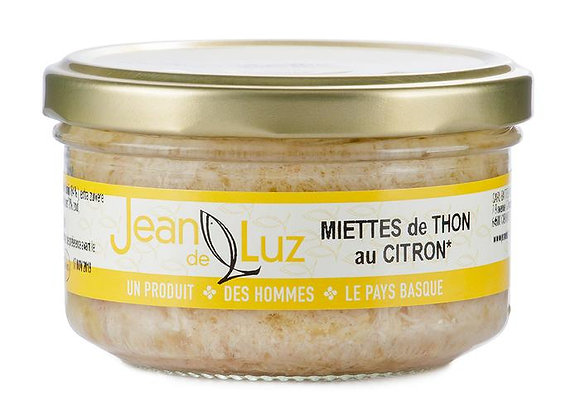 Miettes de Thon Germon au citron et à l'huile d'olive - BIO