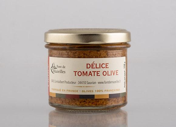 Délice d'olives vertes et tomates séchées