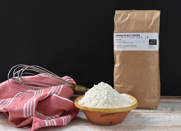 Farine de blé tendre 1kg - Bio - 30km