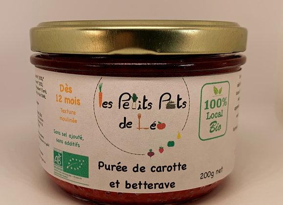 Purée de carottes chou-fleur BIO - dès 12 mois - 200g