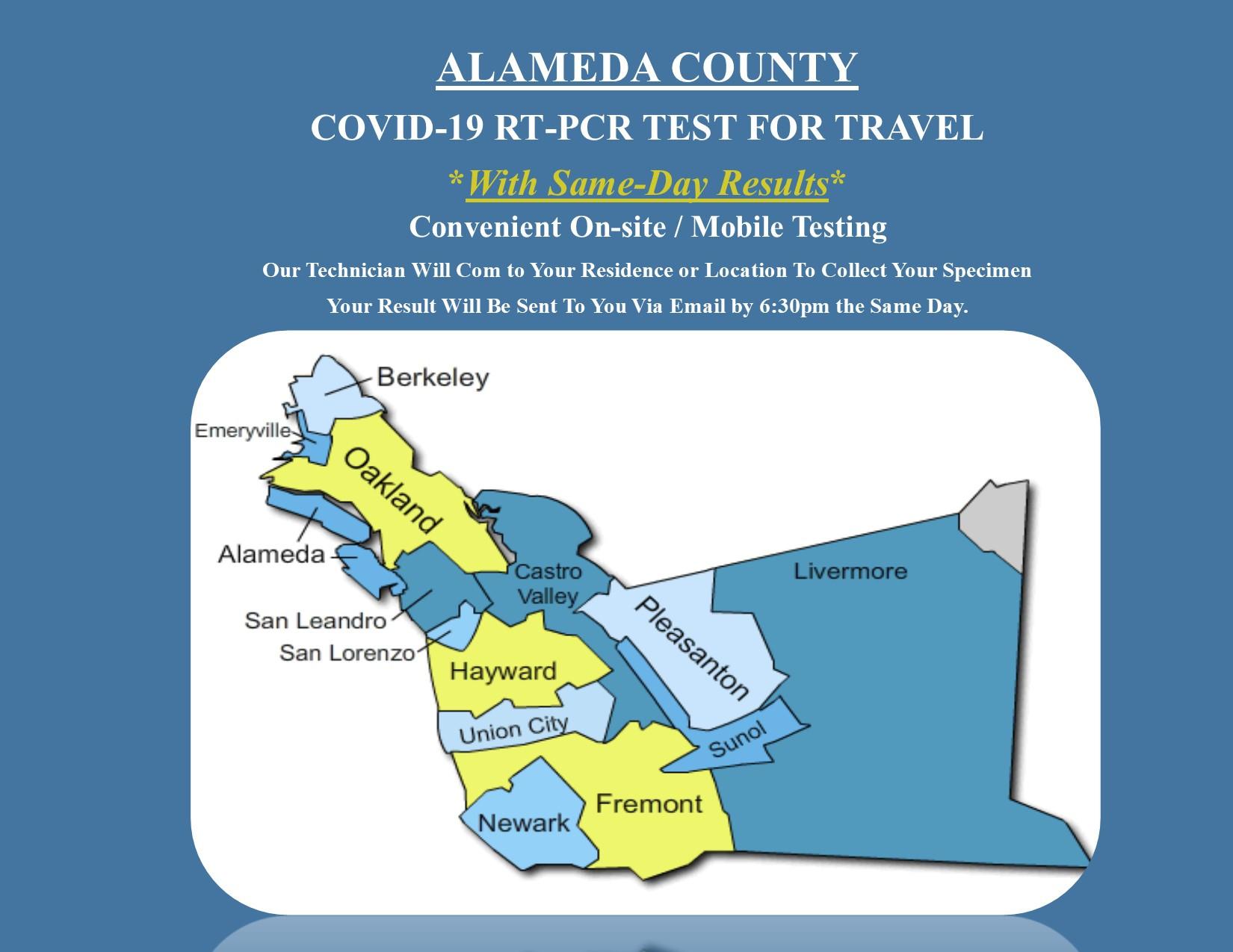 Covid-19 RT-PCR Test: Alameda County