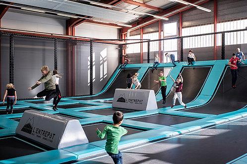 Jump&Climb  Trampoline, bloc et voie  8 à 11 ans
