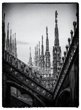 'Milan Duomo Spires' by Alastair Bell ( 12 marks )