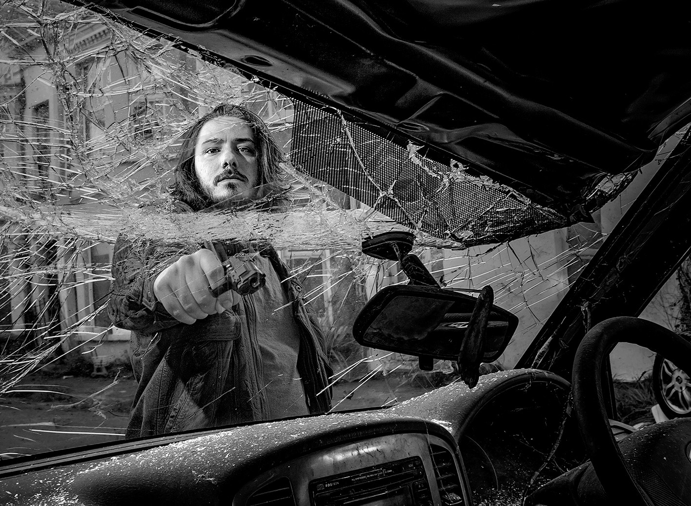 'Car Jack' by Alan Field (14 marks)  -  Bangor & North Down Camera Club