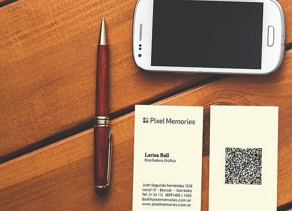 Tarjetas personales Standard (2 caras)