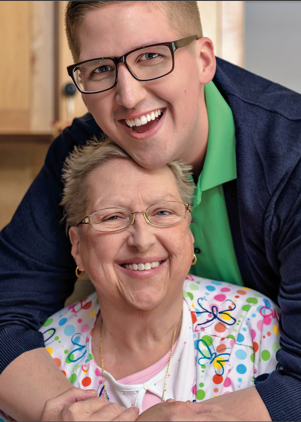 JOY FOR LIFE: Chris and his mom Barbara know that a positive attitude makes all the difference.
