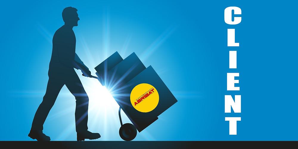 Livraison client, appareils électroménager