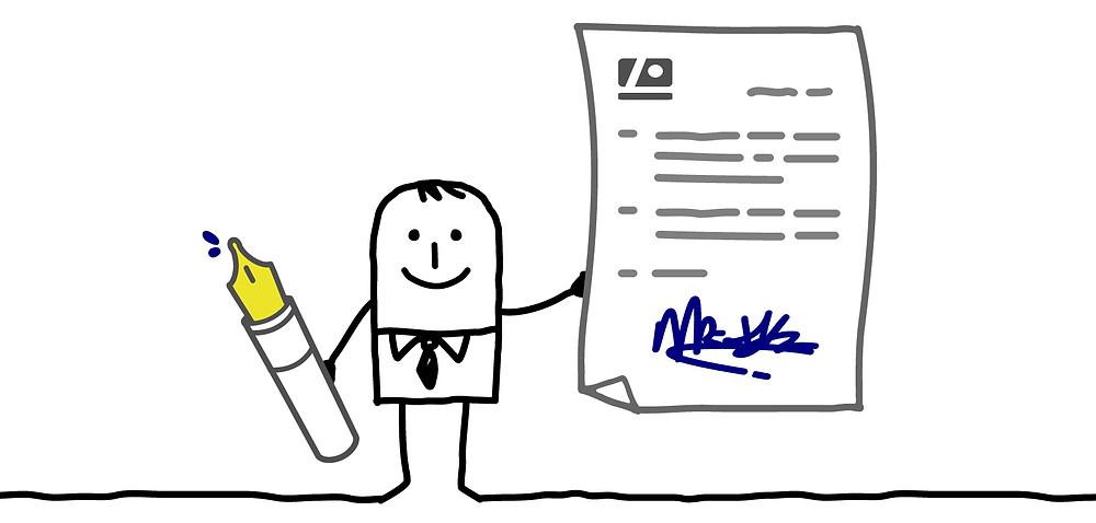 Signature, livreur, réception colis, vérification colis