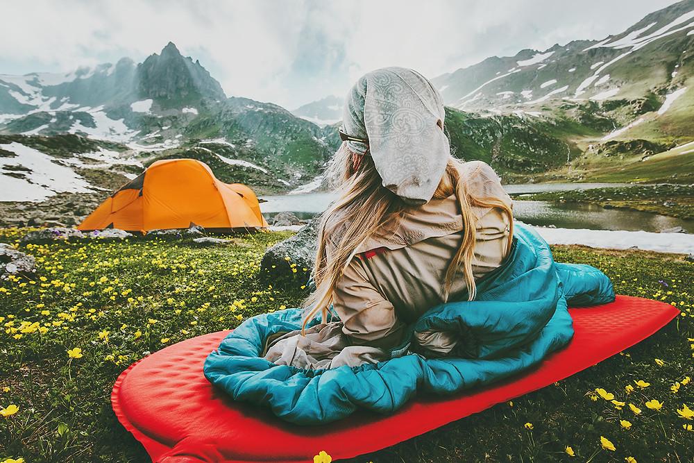 Equipement Dometic, matelas gonflable, duvet, toile de tente