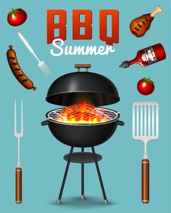 summer, bbq, grillades, party,