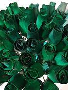 rose bud green w dk green
