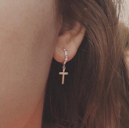 Calista Cross Earrings