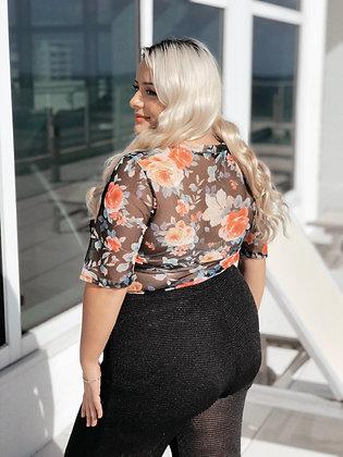 Forever Blooming Floral Print Bodysuit
