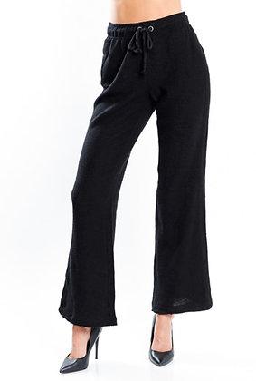 Sunshine & Coffee Black Flare Pants
