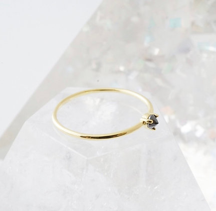 Iron Ore Solitaire Ring