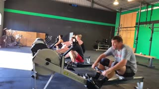 Our WOD for today was fitness test #8 - 5km Row. Here's the 9:30am crew in action. How do you tackle an endurance workout like this?
