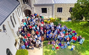 Bethany, Church members, Outside, Front Lawn