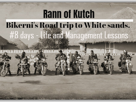 A Road-trip to Rann of Kutch - #bikerni