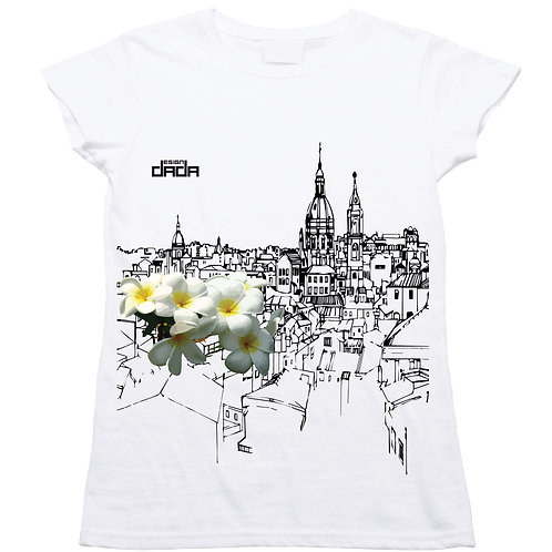 "T-shirt woman ""City flowers Palermo"""
