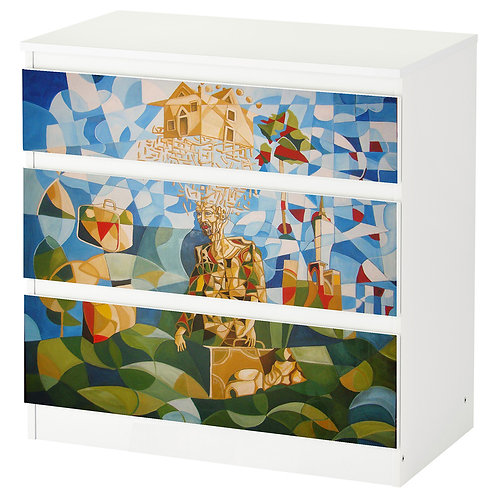 "Personalized drawers ""The trip"""