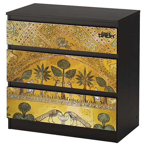 "Personalized drawers ""Roger's room"", limited edition for Royal Palace of Palermo"